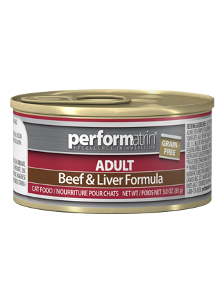 Performatrin ® Adult Grain-Free Beef & Liver Formula Cat Food